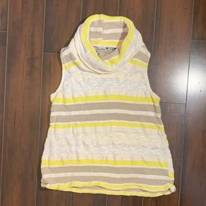 Dolan XS sleeveless cowl neck striped knitted top